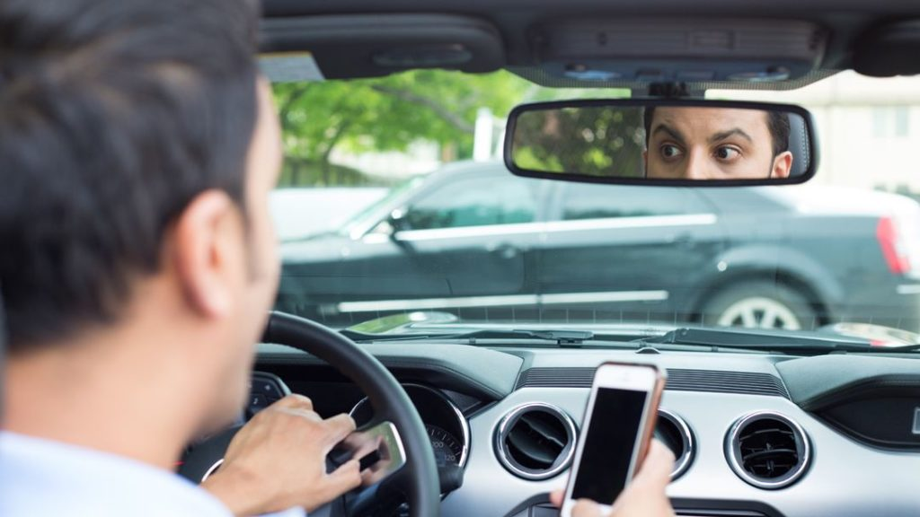 Distracted Driving Causing Car Accident