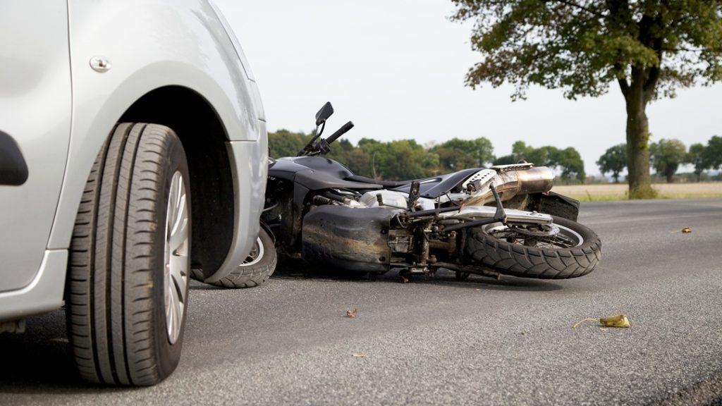 car hit motorcycle