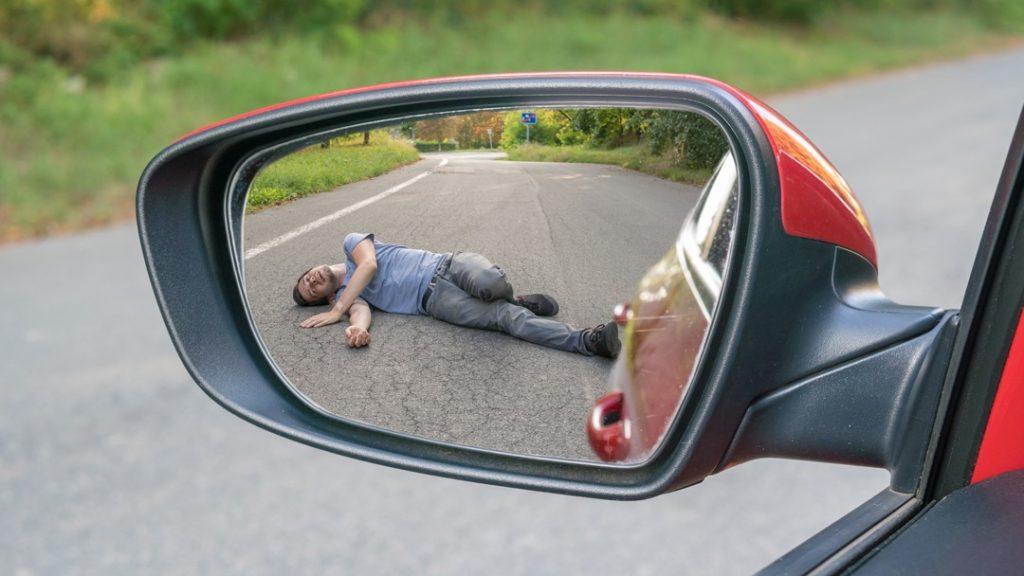 car hit pedestrian