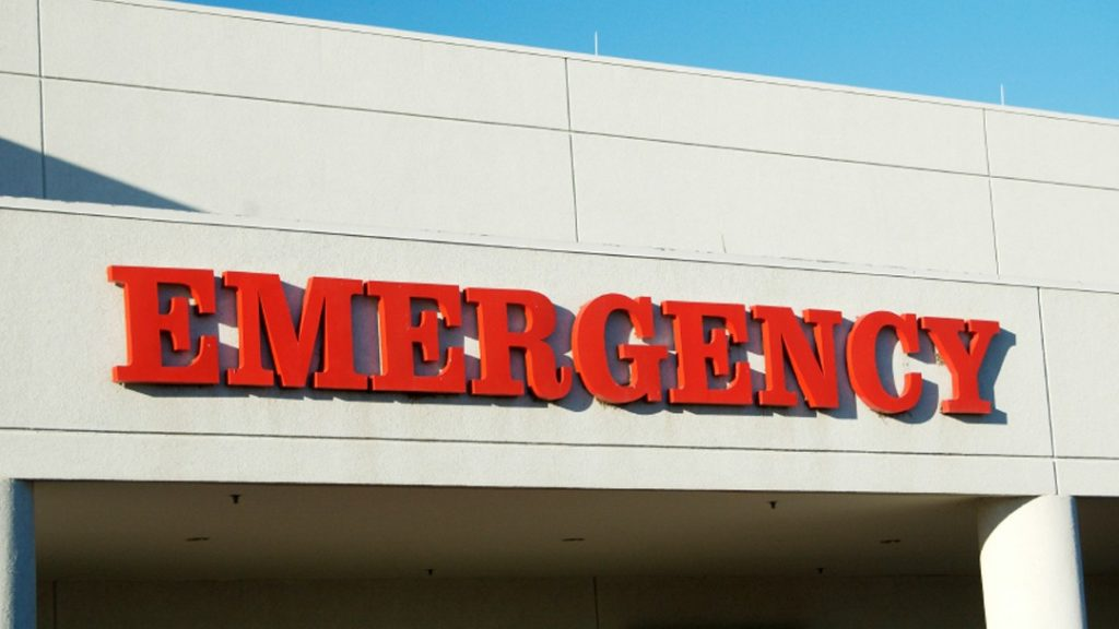 emergency room after accident