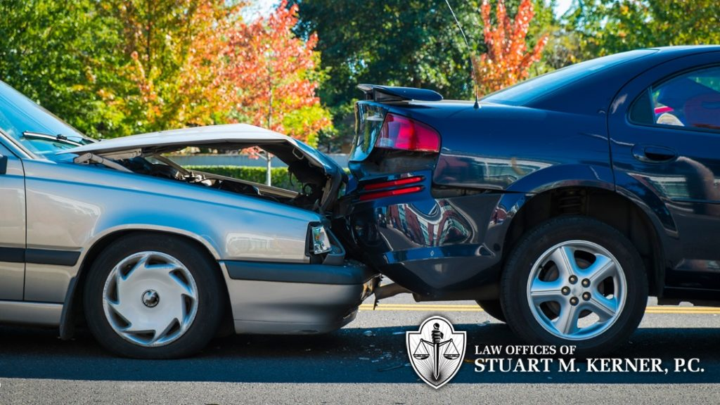 rear ended car wreck